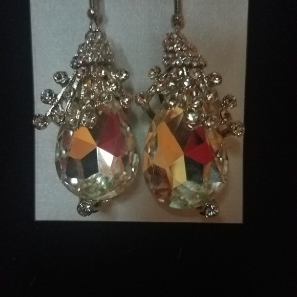 crystal Avenue Jewelry - Large crystal earrings